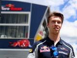 Daniil Kvyat of Toro Rosso walks in the paddock during previews to the Spanish Formula One Grand Prix at Circuit de Catalunya on May 12, 2016