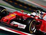 Sebastian Vettel of Ferrari during practice for the Spanish Formula One Grand Prix at Circuit de Catalunya on May 13, 2016