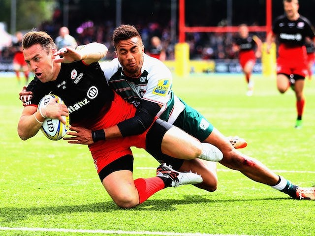 Result: Saracens hold off Leicester fightback