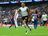 Jesse Lingard celebrates his winner during the FA Cup final between Crystal Palace and Manchester United on May 21, 2016