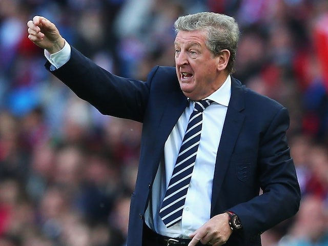 Roy 'Woy' Hodgson watches on during the international friendly between England and Turkey on May 22, 2016