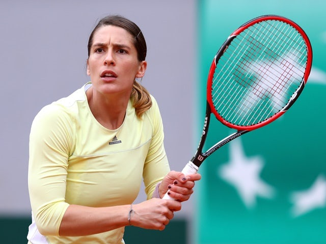Andrea Petkovic in action against Laura Robson at the French Open at Roland Garros on May 24, 2016