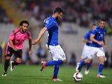 Antonio Candreva of Italy in action during the international friendly between Italy and Scotland on May 29, 2016 in Malta