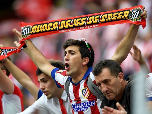 Atletico Madrid fans in the San Siro prior to the Champions League final between Real Madrid and Atletico Madrid on May 28, 2016