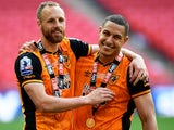 David Meyler and Jake Livermore after the Championship playoff final between Hull City and Sheffield Wednesday on May 28, 2016