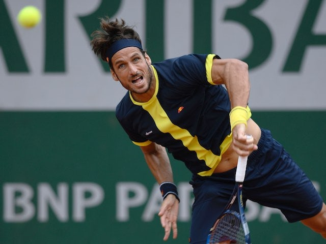 Housewives' favourite Feliciano Lopez in action during the French Open on May 28, 2016