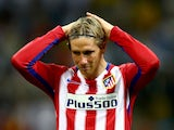 Fernando Torres holds back the tears after the Champions League final between Real Madrid and Atletico Madrid on May 28, 2016