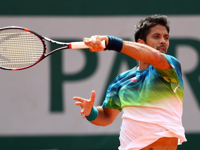 Fernando Verdasco in action at the French Open on May 27, 2016