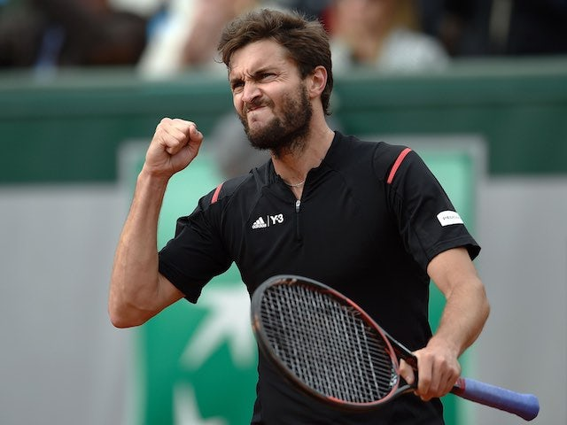 Gilles Simon in action at the French Open on May 25, 2016