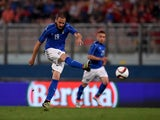 Leonardo Bonucci of Italy in action during the international friendly between Italy and Scotland on May 29, 2016 in Malta
