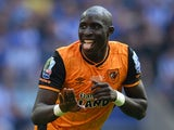 Mohamed Diame celebrates scoring during the Championship playoff final between Hull City and Sheffield Wednesday on May 28, 2016
