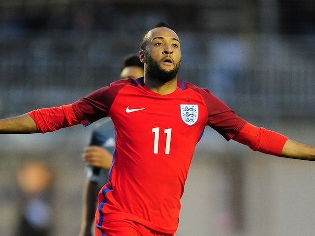Nathan Redmond celebrates scoring during the game between Paraguay under-23s and England under-21s on May 25, 2016