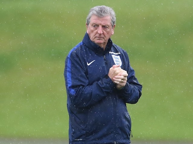 Roy Hodgson watches on during an England training session on May 25, 2016