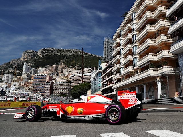 Sebastian Vettel in action at the Monaco GP on May 28, 2016