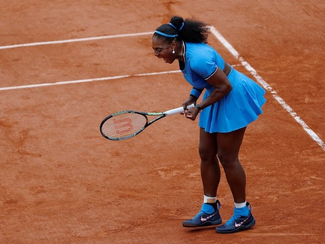 Serena Williams feels the imodium kick in during the French Open on May 28, 2016