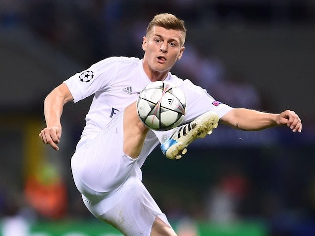 Toni Kroos in action during the Champions League final between Real Madrid and Atletico Madrid on May 28, 2016