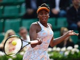 Venus Williams in action at the French Open on May 28, 2016