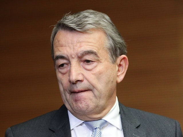Wolfgang Niersbach gives a statement to announce his resignation following a committee meeting at the DFB headquarters on November 9, 2015