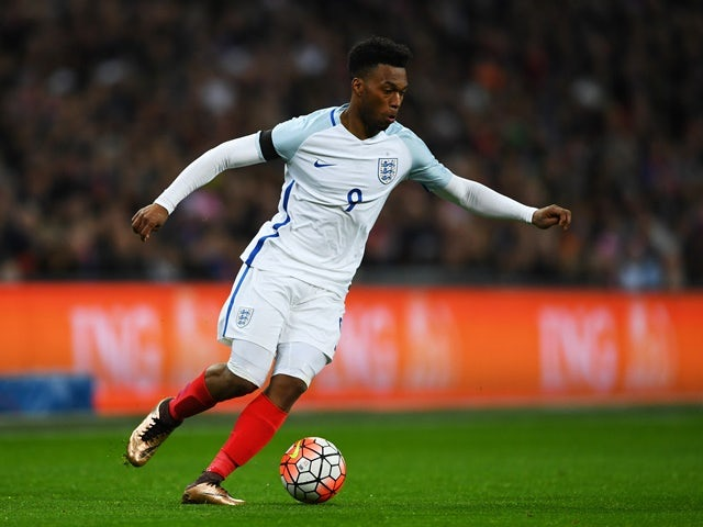 Daniel Sturridge of England controls the ball during the international friendly against Netherlands at Wembley Stadium on March 29, 2016