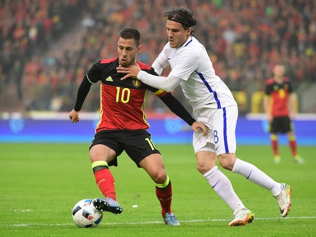 """Courtois """"angry"""" with teammate Hazard"""
