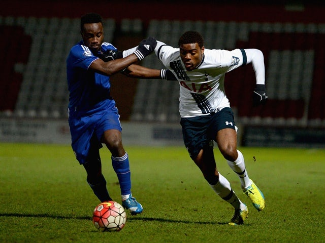 Nathan Oduwa of Tottenham Hotspur is tackled by Fankaty Dabo of Chelsea on January 28, 2016