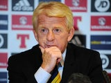 Scotland manager Gordon Strachan at a press conference on June 3, 2016