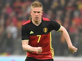 Kevin De Bruyne in action during the international friendly between Belgium and Finland on June 1, 2016