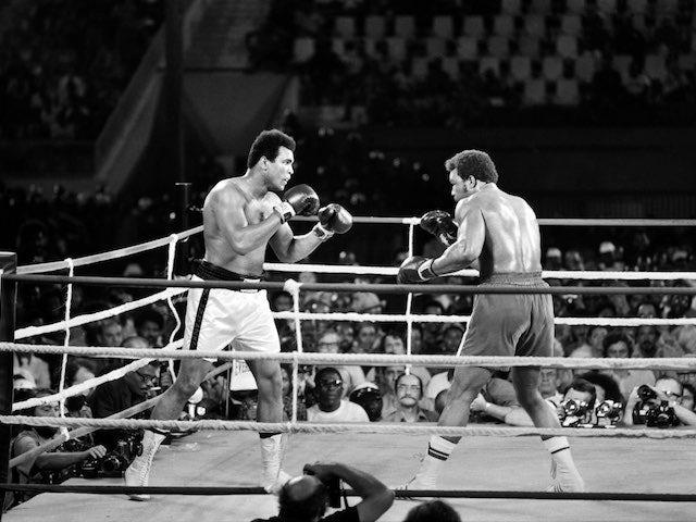 Muhammad Ali against George Foreman in 1974