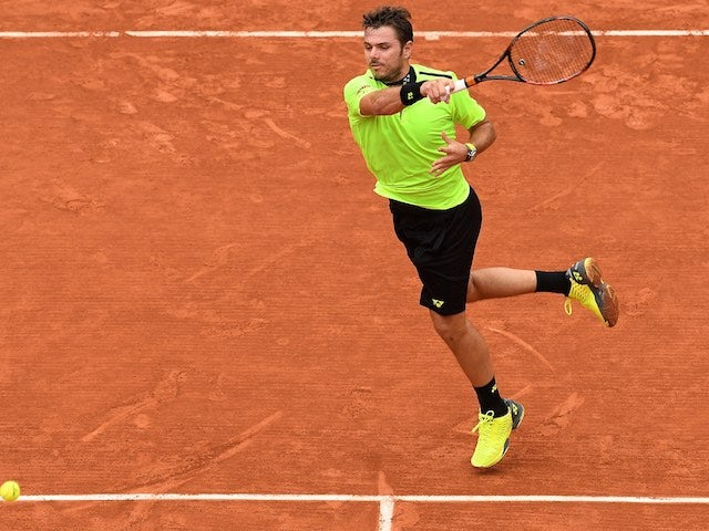 Stan Wawrinka in action at the French Open on June 1, 2016