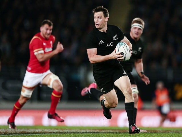 Ben Smith of New Zealand makes a break during the international Test match against Wales at Eden Park on June 11, 2016