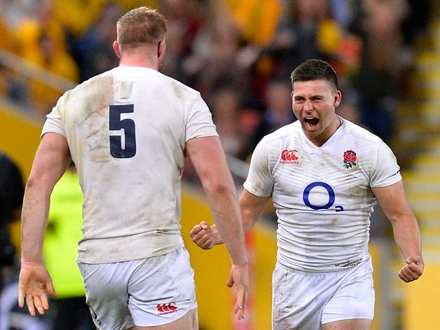 Ben Youngs of England celebrates victory after the international Test match against Australia on June 11, 2016