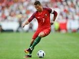 Portugal's forward Cristiano Ronaldo controls the ball during the friendly against Estonia on June 8, 2016