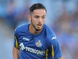 Pablo Sarabia of Getafe in action during the La Liga match between Getafe and Levante at estadio Coliseum Alfonso Perez on September 27, 2015