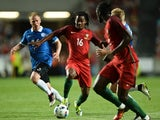 Portugal's Renato Sanches vies with Estonia's Ilja Antonov during the international friendly on June 8, 2016