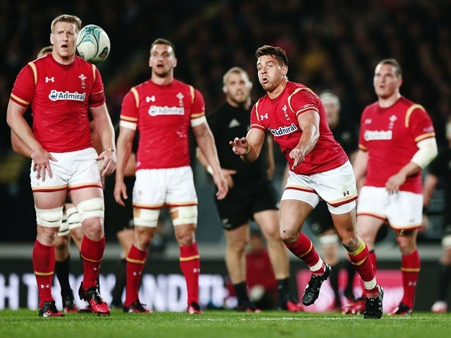 Rhys Webb of Wales with a pass during the international Test match against New Zealand on June 11, 2016