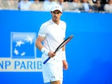 Andy Murray during his first-round match against Nicolas Mahut on day two of the Aegon Championships at Queen's on June 14, 2016