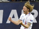 Birkir Bjarnason equalises during the Euro 2016 Group F game between Portugal and Iceland on June 14, 2016