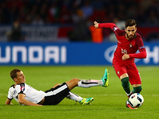 Florian Klein and Rafa Silva during the Euro 2016 Group F match between Portugal and Austria on July 18, 2016