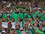 Fans of Northern Ireland during the Euro 2016 Group C match against Ukraine on June 16, 2016