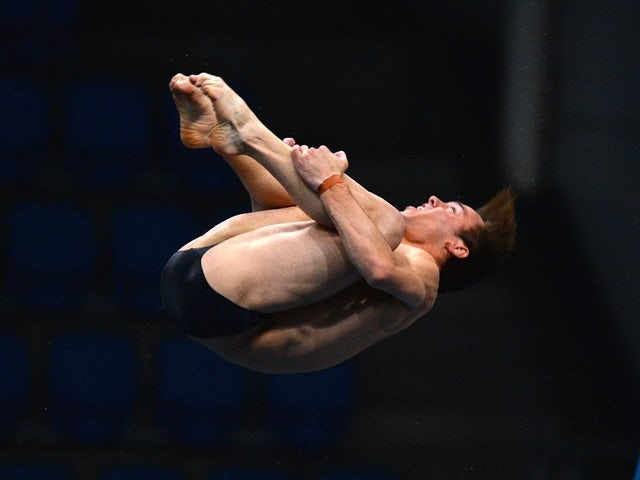 Tom Daley competes in the men's 10m platform preliminaries during the British Diving Championships on June 12, 2016