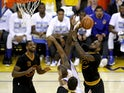 LeBron James of the Cleveland Cavaliers shoots the ball against the Golden State Warriors on June 19, 2016