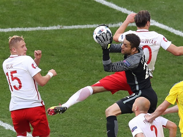 Lukasz Fabianski during the Euro 2016 Group C match between Ukraine and Poland on June 21, 2016