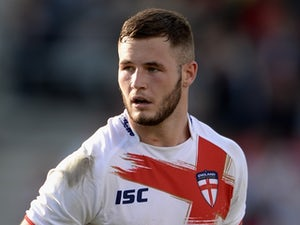 Zak Hardaker of England Knights during the International match between England Knights and Samoa at Salford City Stadium on October 19, 2013