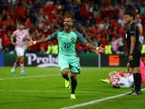 Ricardo Quaresma celebrates scoring during the Euro 2016 RO16 match between Croatia and Portugal on June 25, 2016