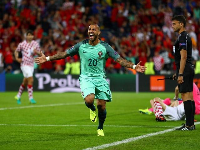 Ricardo Quaresma celebrates scoring during the Euro 2016 RO16 match between Croatia and Portugal on June 25, 2016