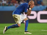 Simone Zaza reacts during the Euro 2016 Group E match between Italy and Republic of Ireland on June 22, 2016