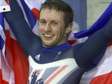 Jason Kenny celebrates winning Olympic gold in Rio on August 14, 2016
