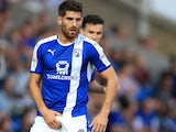 Ched Evans cops a feel while playing for Chesterfield in August 2016