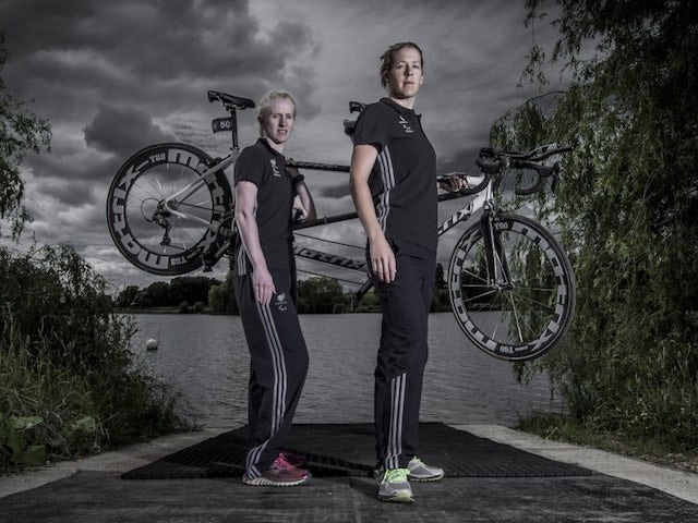ParalympicsGB triathlete Alison Patrick and her guide Hazel Smith