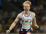 Jonnie Peacock storms to gold in the men's T44 100m final at the Rio Paralympics on September 9, 2016